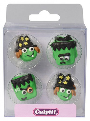 Monster Friends Sugar Pipings - 12 Pieces