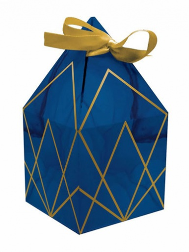 Navy & Gold Favour Boxes - Pack of 8