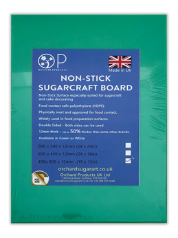 Green Non-Stick Sugarcraft Board - 18'' x 12'' (450mm x 300mm) - Orchard Products