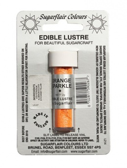 Sugarflair ORANGE SPARKLE Edible Lustre Dust Powder