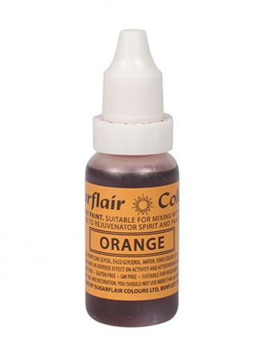 Sugarflair Edible Droplet Paint - Orange