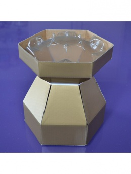 Cupcake Bouquet Box - Gold