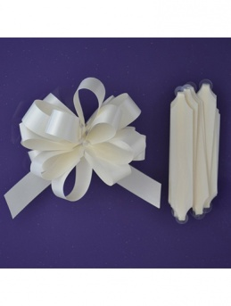 Quick Pull Cupcake Bouquet Bow 18mm - Ivory