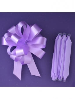 Quick Pull Cupcake Bouquet Bow 18mm - Lilac
