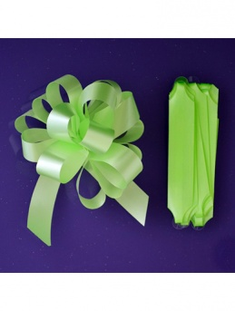 Quick Pull Cupcake Bouquet Bow 18mm - Lime Green