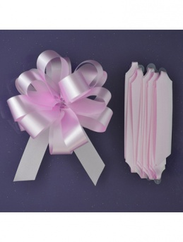 Quick Pull Cupcake Bouquet Bow 18mm - Pale Pink