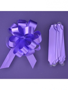 Quick Pull Cupcake Bouquet Bow 18mm - Purple