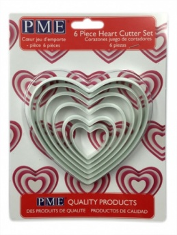 PME Heart Cutters Set of 6