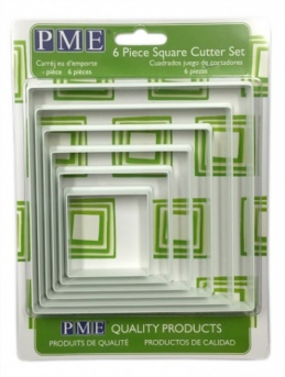 PME Square Cutters Set of 6