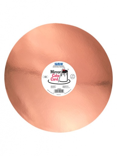 PME Mirror Cake Card - Round - Rose Gold 12'' - Pack of 3