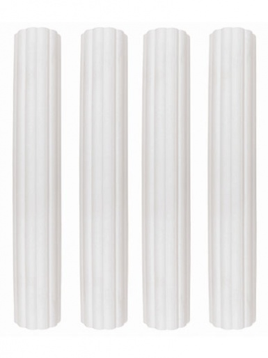 6 inch Plastic Hollow Pillars Pack of 4