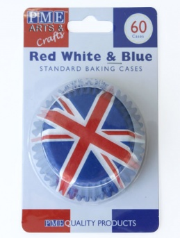 Union Jack Baking Cases 60 pack