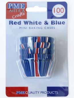 Union Jack Mini Baking Cases 100 pack