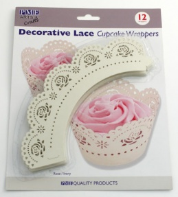 Ivory Rose Cupcake Wrappers