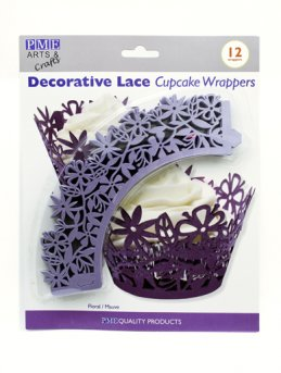 Mauve Floral Cupcake Wrappers