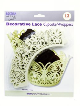Ivory Butterfly Cupcake Wrappers