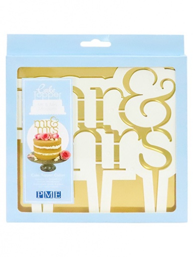 PME Cake Topper Cutter, Mr & Mrs - Modern