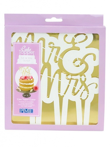 PME Cake Topper Cutter, Mr & Mrs - Script
