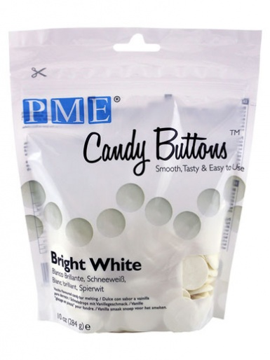 PME BRIGHT WHITE Candy Buttons 10oz
