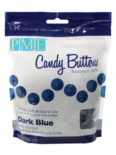 PME Dark Blue Candy Buttons 12oz