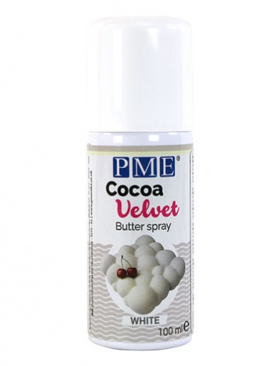 PME COCOA VELVET Butter Spray - White - 100ml