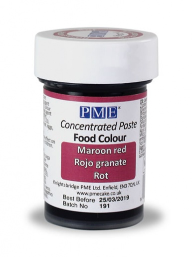 PME Paste Food Colour - Maroon Red