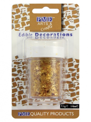 PME Edible Glitter Flakes - Gold