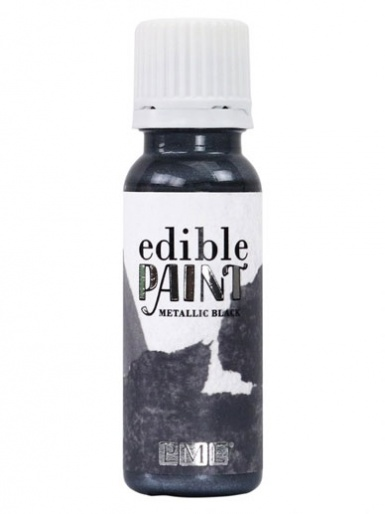 PME Edible Paint 20ml - METALLIC BLACK