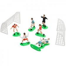 PME Football / Soccer Decorations 9 Pieces for Cake decoration
