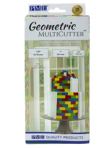 PME Geometric Multi Cutter Set of 3 - Brick
