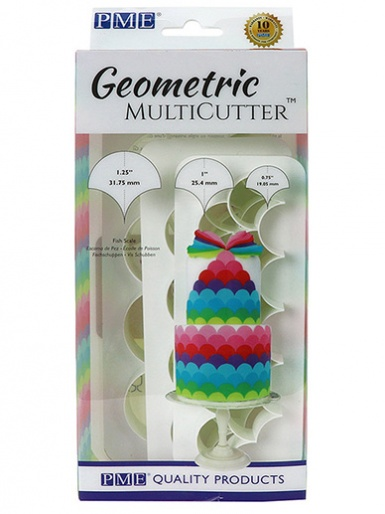 PME Geometric Multi Cutter Set of 3 - Fish Scale