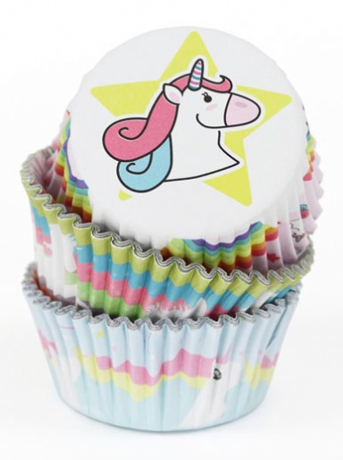 PME UNICORN - Foil lined Cupcake Cases - Pack of 60