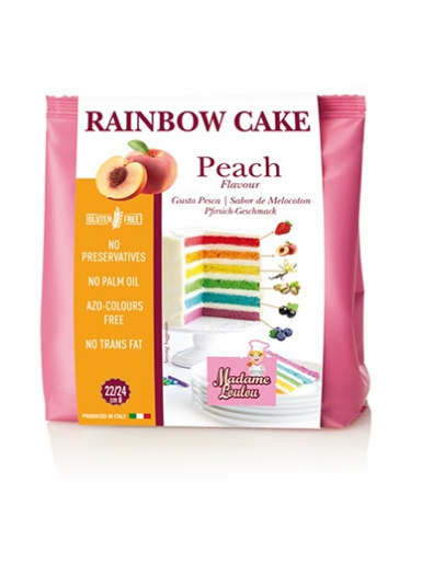 Madame Loulou - Rainbow Cake - Peach Flavour - Orange 100g
