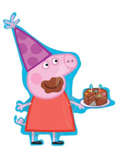 SuperShape - Peppa Pig eating Cake Balloon -33'' Foil