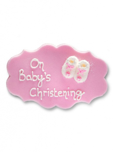 Babys Christening Plaque - Girl
