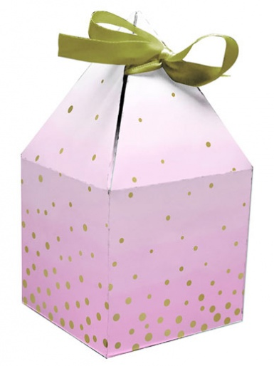 Pink & Gold Favour Boxes - Pack of 8