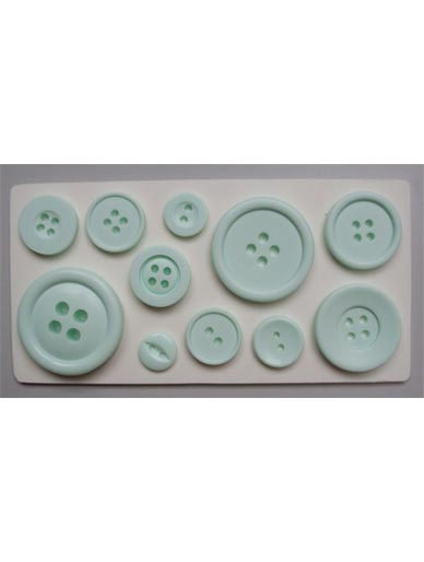 Buttons Plain Silicone Mould