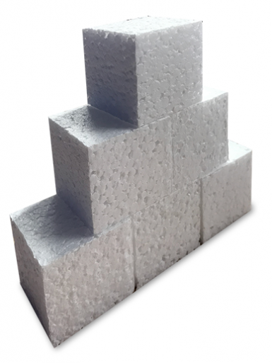The Vanilla Valley Polystyrene Cubes - Set of 6