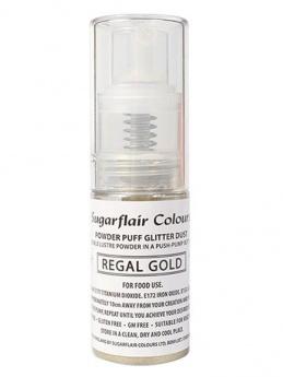 Sugarflair Powder Puff Glitter Non-Aerosol Spray - Regal Gold