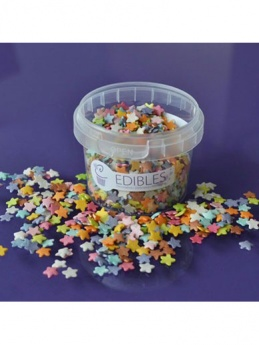 Purple Cupcakes Shimmer Stars Multi Colours