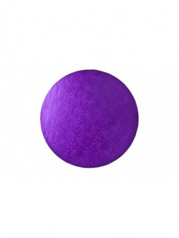 Round Thick Cake Board Drum - Purple