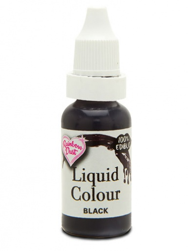 Rainbow Dust Liquid Colour for Airbrushing - Black