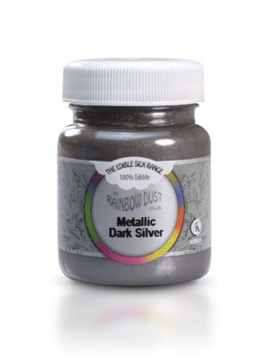 Edible Silk Range - Dark Silver 30g Mini Bulk Pot