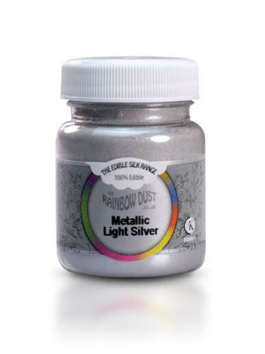 Edible Silk Range - Light Silver 30g Mini Bulk Pot
