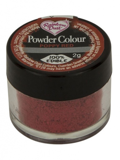 Rainbow Dust - Powder Colour - Poppy Red