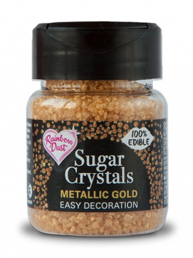 Rainbow Dust Sugar Crystals - Metallic Gold