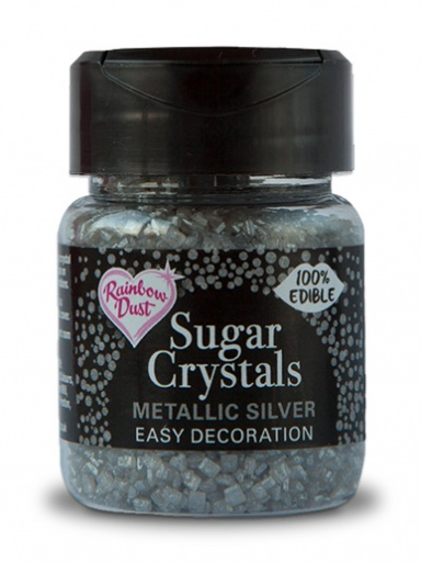 Rainbow Dust Sugar Crystals - Metallic Silver