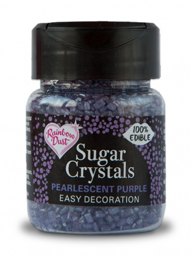 Rainbow Dust Sugar Crystals - Pearlescent Purple