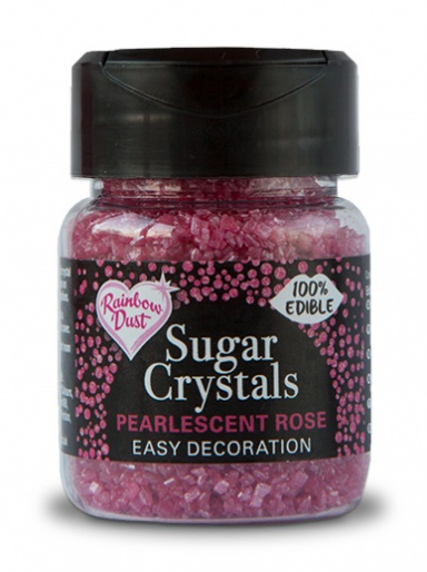 Rainbow Dust Sugar Crystals - Pearlescent Rose