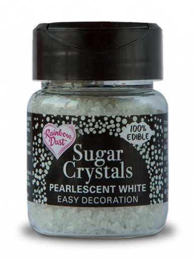 Rainbow Dust Sugar Crystals - Pearlescent White